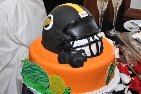 Wedding cake KC Photo