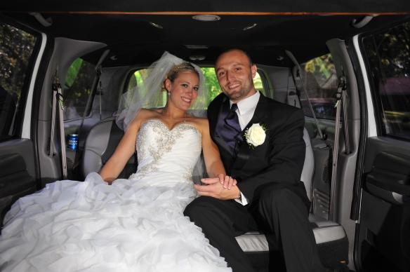 Limosine for wedding couple